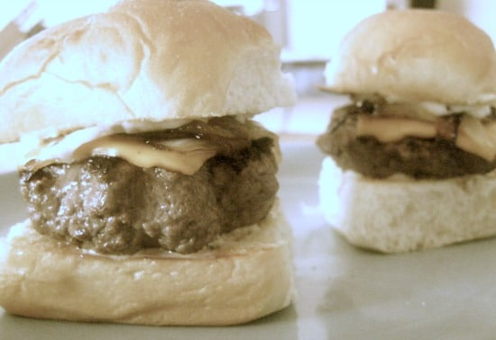 Brisket Sliders with Caramelized Onions and Rosemary Mayo