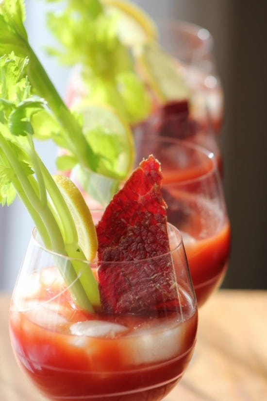 Bloody Mary with Beef Jerky
