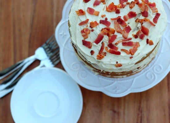 Elvis Cake- Peanut Butter Banana Bacon Cake