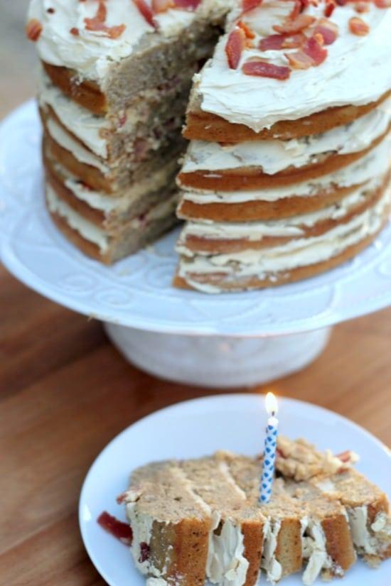 Elvis Cake- Peanut Butter Banana Bacon Cake