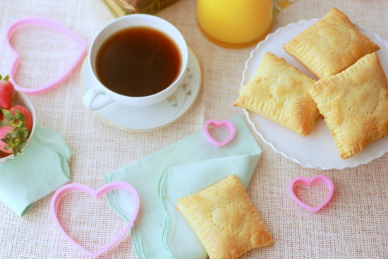 Strawberry Breakfast Pastries with Puff Pastry Dough
