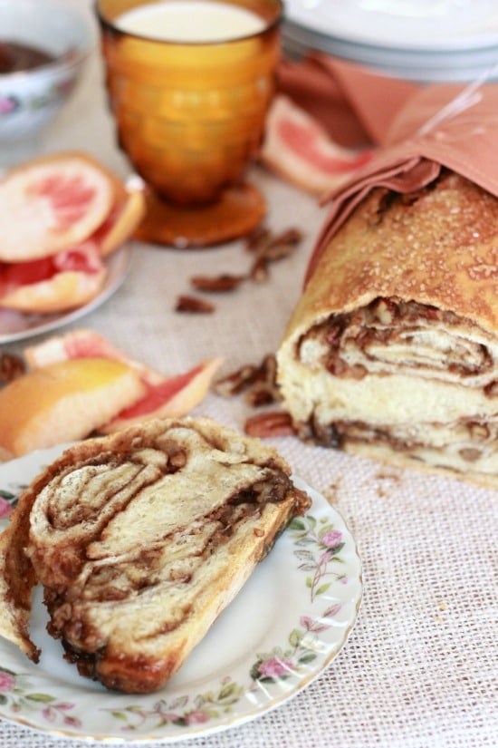 Cardamom Pecan Swirl Bread