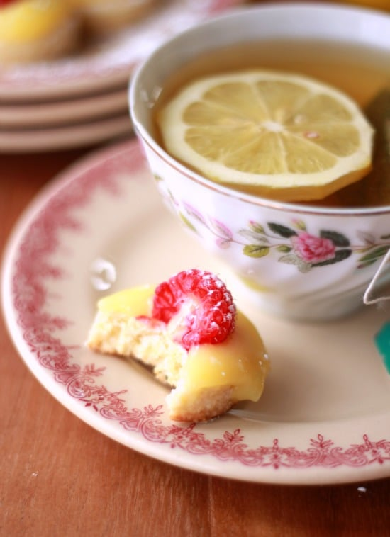 Lemon Curd and Raspberry Tea Cookies