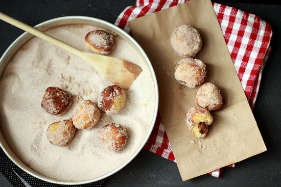 Chocolate Filled Mini Donuts Donut Holes Baker Bettie