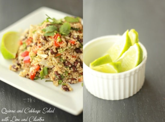 Quinoa and Cabbage Salad with Lime and Cilantro