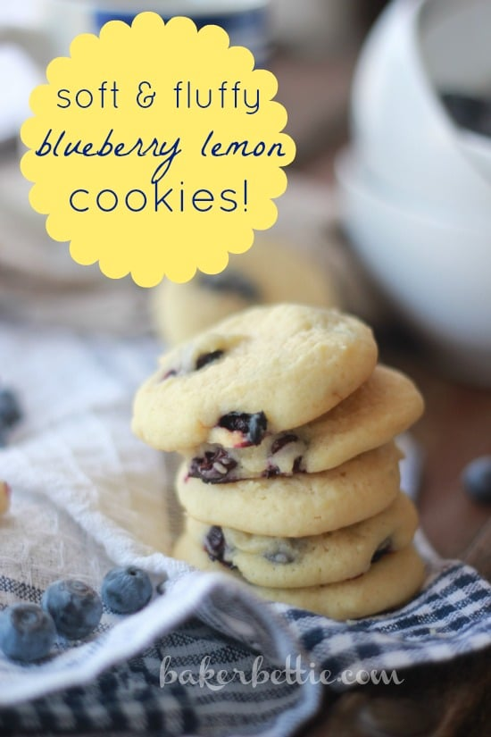 Soft and Fluffy Blueberry Lemon Cookies
