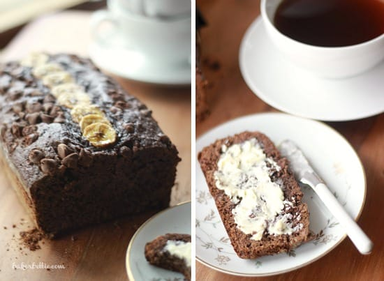 Dark Chocolate Banana Bread with Cayenne