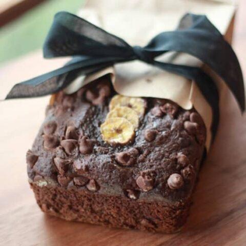 Dark Chocolate Banana Bread with Cayenne