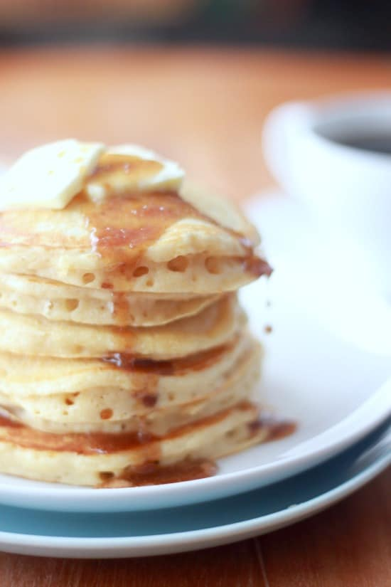 Old Fashioned Sour Milk Griddlecakes With Cinnamon Roll