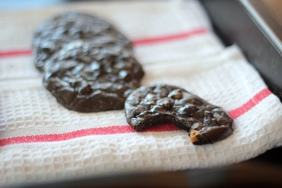 Flourless Cookies: Dark Chocolate Espresso with Butterscotch Chips (gluten free)