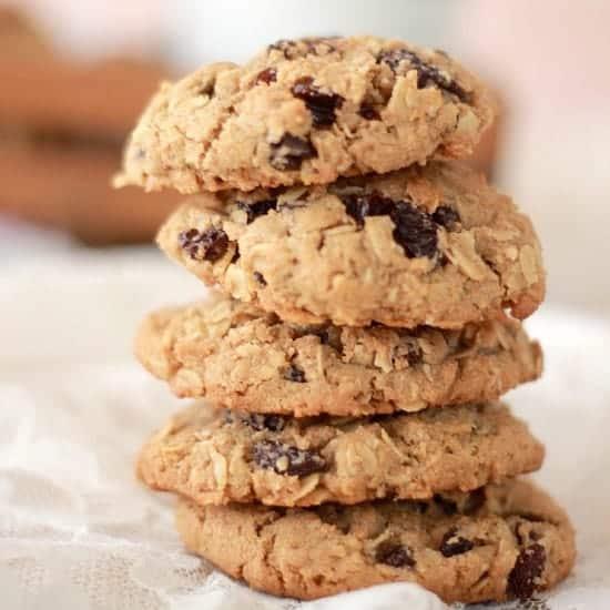 spiced-rum-raisin-oatmeal-cookies