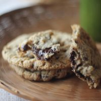 Gluten Free Dark Chocolate and Toasted Pecan Cookies with Browned Butter