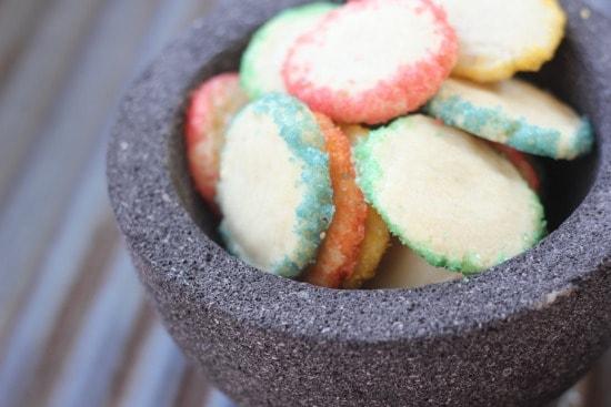 Kaleidoscope Shortbread Cookies and Homemade Colored Sanding Sugar