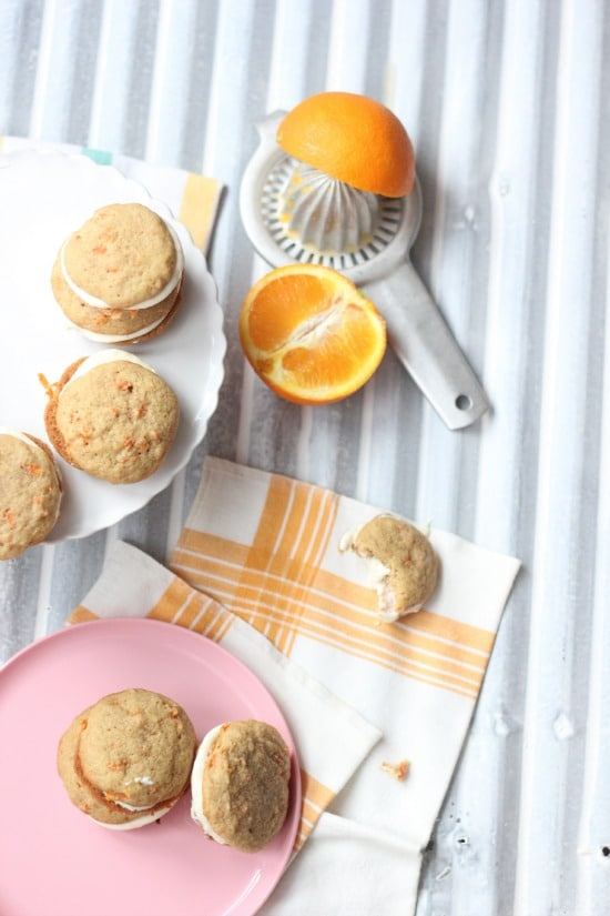Carrot Whoopie Pies with Orange Cream Cheese Filling
