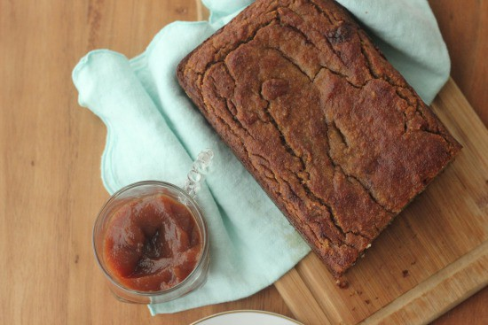 Grain Free Banana Bread with Banana Butter (paleo friendly)