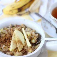 Apple Cinnamon Jicama Breakfast Porridge