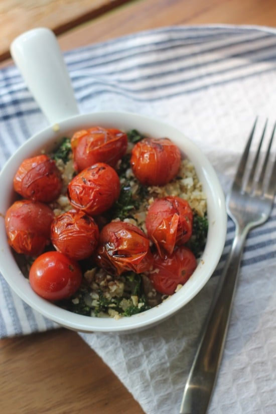 Oven Broiled Tomatoes with Balsamic