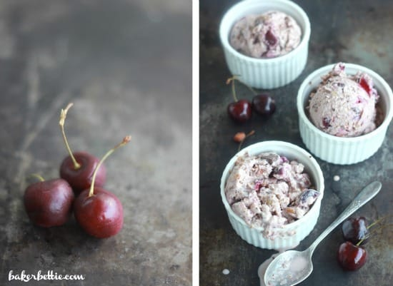 Drunken Cherry Coconut Ice Cream
