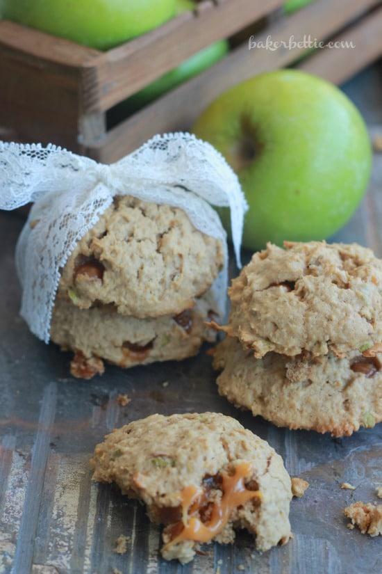 Whiskey Caramel Apple Cookies