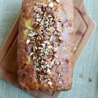 Pumpkin Pecan Bread with Orange Cardamom Glaze