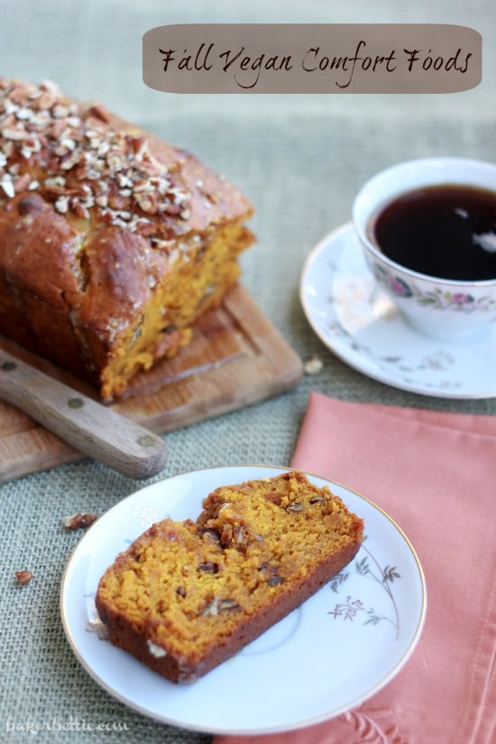 Pumpkin Pecan Bread with Orange Cardamom Glaze (vegan)