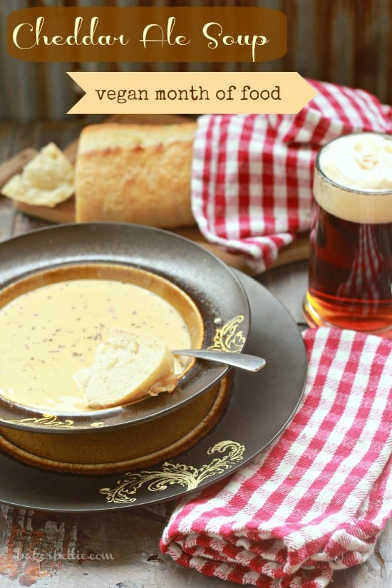 Cheddar Ale Soup (vegan) - Baker Bettie