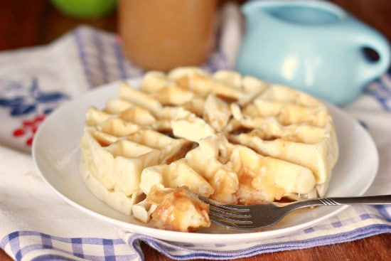 Old Fashioned Waffles with Apple Cider Syrup (vegan)