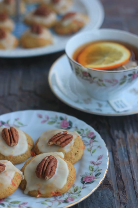 Carrot Cookies with Orange Glaze (vegan)