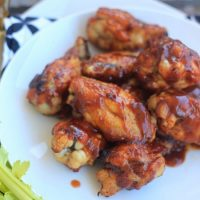 Broiled BBQ Buffalo Wings