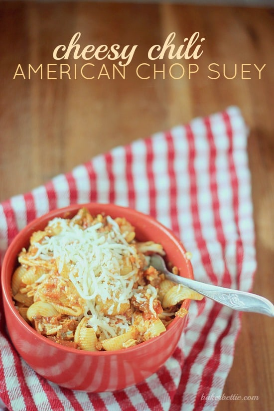 Cheesy Chili American Chop Suey