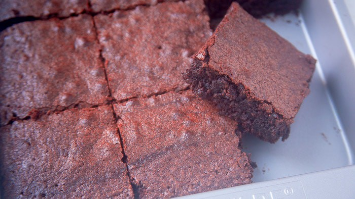 Chewy cocoa powder brownies