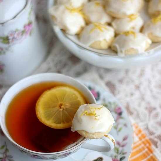 Lemon Goat Cheese Tea Cookies