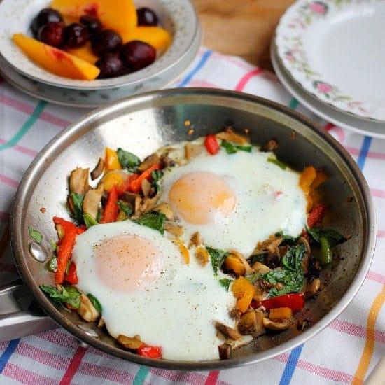 Roasted Veggie Breakfast Skillet For One Baker Bettie