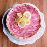 Raspberry Swirled Lemon Cheesecake
