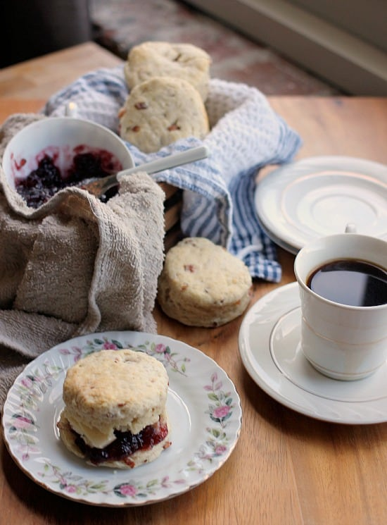 Buttermilk Bacon Biscuits with Blackberry Jam- Baker Bettie