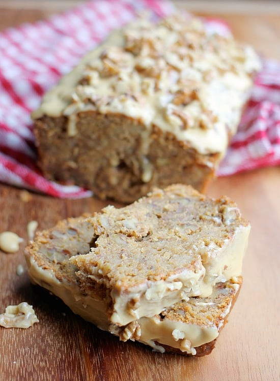 Banana Walnut Bread with Burnt Sugar and Whiskey Frosting - Baker Bettie