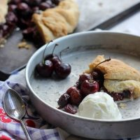 Free-Form Bourbon Soaked Cherry Pie