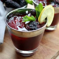Bourbon Blackberry Mint Lemonade