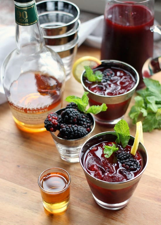 Bourbon Blackberry Mint Lemonade - Baker Bettie