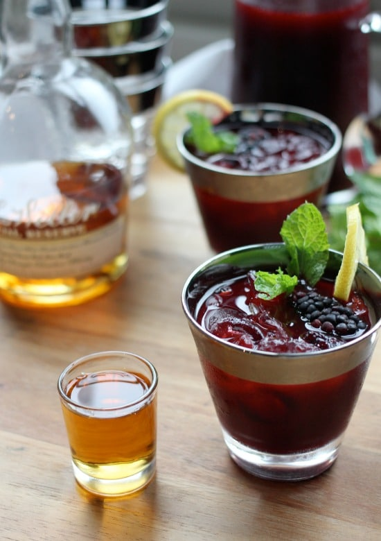 Bourbon Blackberry Mint Lemonade - Baker Bettie