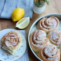 Rosemary Lemon Cinnamon Rolls