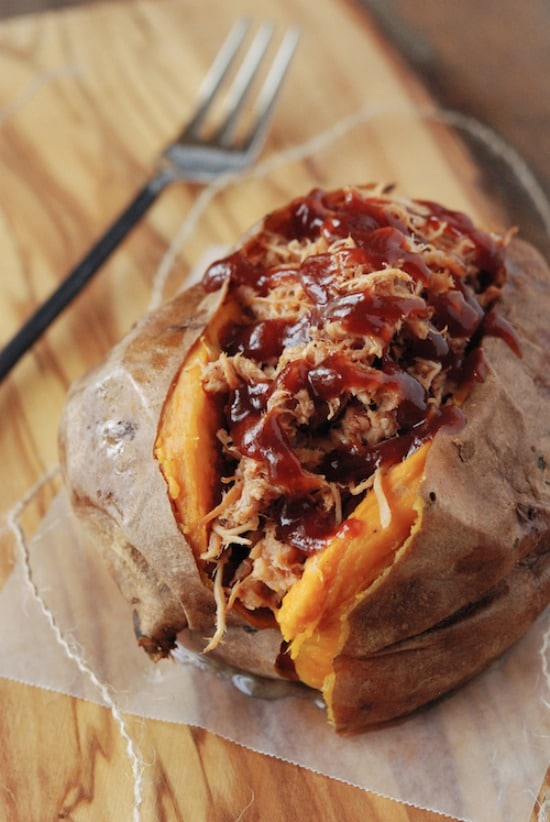Pulled Pork Stuffed Sweet Potato