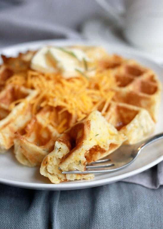 Cheddar Rosemary Savory Waffles- Baker Bettie