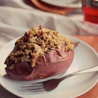 Baked Sweet Potatoes with Streusel Topping