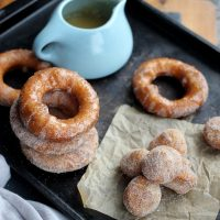 Puff Pastry Donuts with Cinnamon Sugar and Boubon Glaze