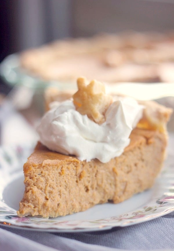 Creamy Pumpkin Pie with Cream Cheese- Baker Bettie