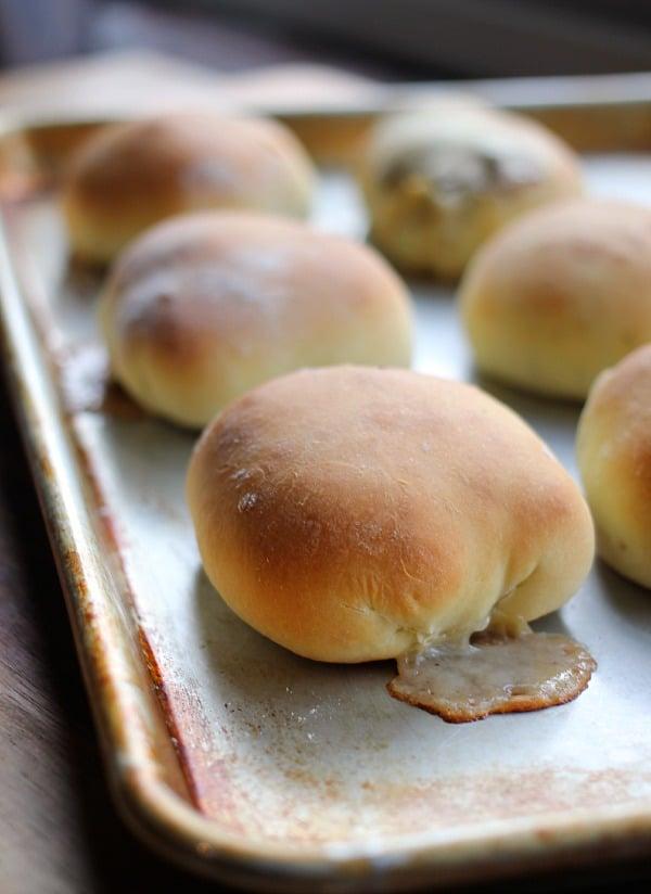Philly Cheesesteak Stuffed Bread Rolls- Baker Bettie