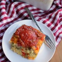 Sausage Egg and Cheese Casserole