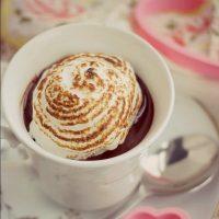 Chocolate Custard with Meringue