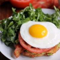Avocado Toast with Bacon, Tomato, and Fried Egg